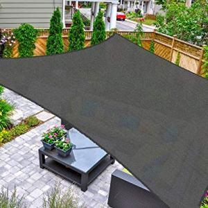 AsterOutdoor Sun Shade Sail Rectangle 10' x 13' UV Block Canopy for Patio Backyard Lawn Garden Outdoor Activities, Graphite