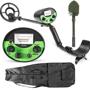 Ohuhu Metal Detector, High Accuracy Detector with Pinpoint, Beach & Forest Treasure Hunting, Gold Digger with Waterproof & Sensitive Search Coil, Bonus A Foldable Shovel,Christmas Idea Gifts for Kids