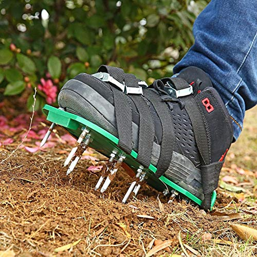 Lawn Aerating Shoes ,Heavy Duty Lawn Shoes,Lawn Aerator Shoes with Spikes for Women Men Aerating Your Yard Lawn Roots Grass for Grassland, Garden, Courtyard, Floor
