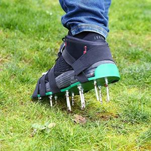 haitop Aerator Shoes, Lawn Aerator Shoes,Lawn Aerator Spike Shoes for Lawn,Anti-Slip Garden Spiked Shoes,Solid Durable Garden Spiked Shoes