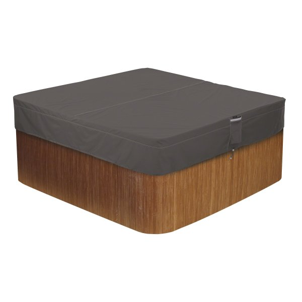 Classic Accessories Ravenna Water-Resistant 86 Inch Square Hot Tub Cover
