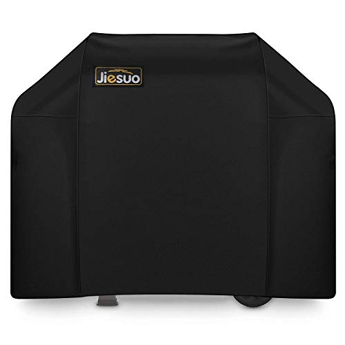 JIESUO 7130 Grill Cover for Weber Genesis II, BBQ Cover for Weber Genesis Grill, Grill Covers for Weber Genesis II 3 Burner Grill and Genesis 300 Grills