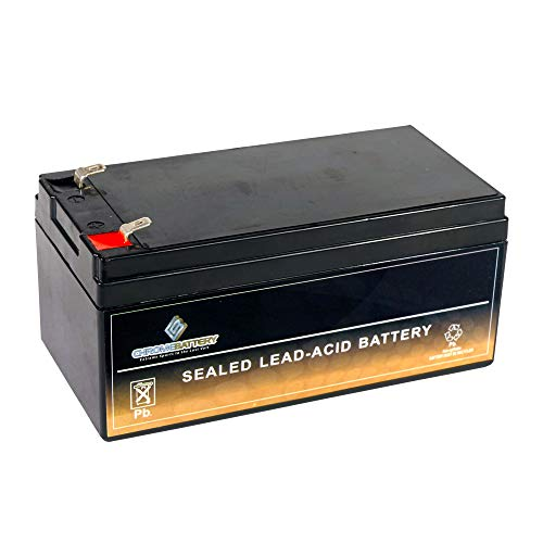 SLA Replacement Battery for 12V 3.2AH AGM Battery- Replaces BP3-12 ES3-12 PS-1230 PW1203- Chrome Battery