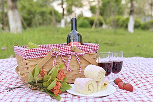 Picnic Basket Natural Woven Woodchip with Double Folding Handles Package deal Dimensions: 12.eight x 7.eight x 6.5 inches