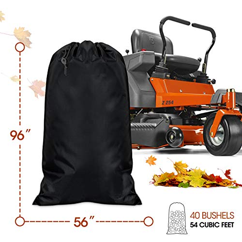 Zipcase 54 cu. ft. Standard Lawn Tractor Leaf Bag Zipcase 54 cu. ft. Standard Lawn Tractor Leaf Bag, Garden Lawn and Leaf Trash Bags Leaves Waste Bag Compatible with Cub Cadet Cub Cadet XT1 LT42, XT1 LT46, XT2 LX42, XT2 LX46 Lawn Tractors.