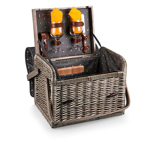 Picnic Time Kabrio Picnic Basket with Wine and Cheese Service for Two, Anthology Collection