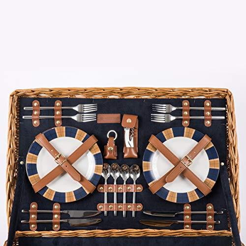 Picnic Time Windsor English-Style Willow Picnic Basket Guarantee: Backed by the Picnic Time Household of Manufacturers BUILT TO LAST Lifetime Pledge to restore or substitute if faulty for any cause