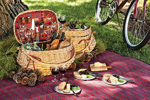 Picnic Time Highlander Bombay Picnic Basket Guarantee: Backed by the Picnic Time Household of Manufacturers BUILT TO LAST Lifetime Pledge to restore or substitute if faulty for any cause