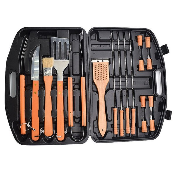 18PCS BBQ Outdoor Barbecue Tools Stainless steel Barbecue Set