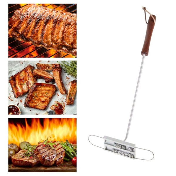 43cm BBQ Branding Iron Tong 55 Letters DIY Barbecue Letter