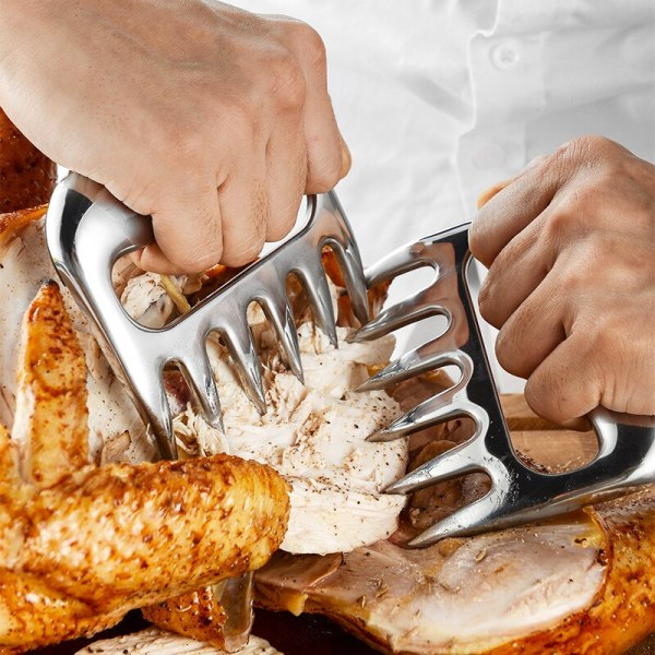 2Pcs/Set Meat Divider Bear Claw Slicer Creative Portable Cooked