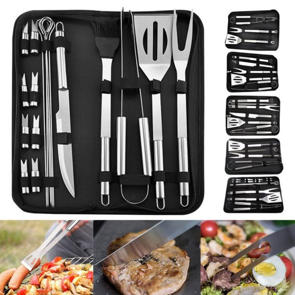 Barbecue Sets Tool Stainless Steel BBQ Food Tongs