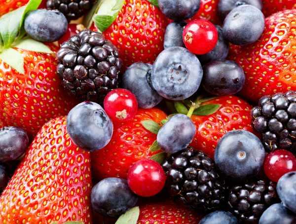 Fresh Berries As Background