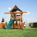 fun shack, space saver, backyard fort, slide, swings punching bag