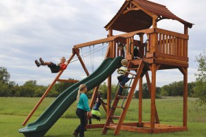 fort stockton, wooden swing set, swing set, swings, slide, swing set for kids, kids, children, play, playground, playset, sets, accessories, backyard swing set