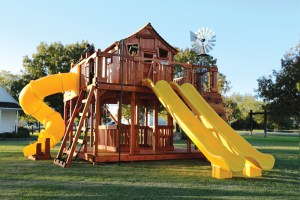 fort ticonderoga, ticonderoga, twister slide, cabin, rock wall, wooden swing set, swing set, swings, slide, swing set for kids, kids, children, play, playground, playset, sets, accessories, backyard swing set