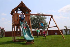 maverick, wooden swing set, swing set, swings, slide, swing set for kids, kids, children, play, playground, playset, sets, accessories, backyard swing set