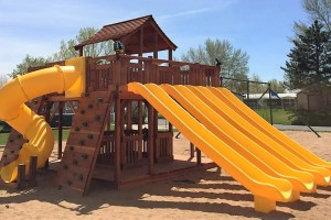 fort ticonderoga, ticonderoga, twister slide, rock wall, wooden swing set, swing set, swings, slides, swing set for kids, kids, children, play, playground, playset, sets, accessories, backyard swing set