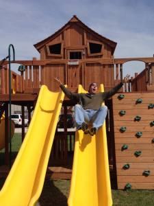 dealers, ticonderoga, slides, swing set, wooden swing set, backyard swing set, outdoor swing set