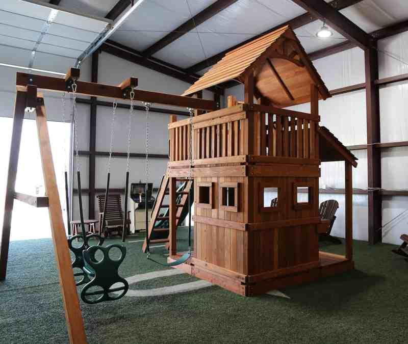 Fort Davis Swing Set Lower Cabin   Backyard Fun Factory