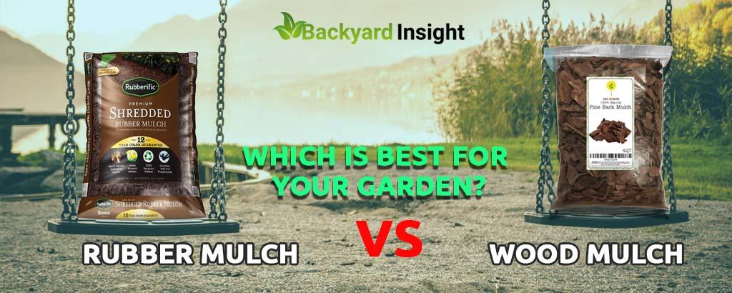 Rubber mulch vs wood mulch