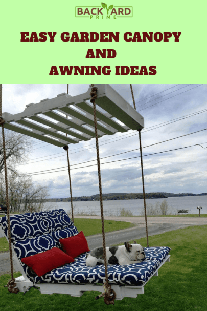 Easy Outdoor Garden Canopy and Awning Ideas to DIY 6
