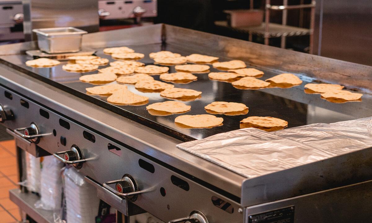 Grilling Tortillas at Backyard Taco