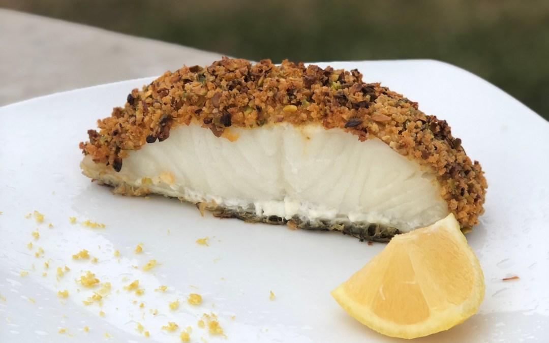 Pistachio Crusted Sea Bass