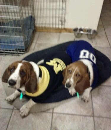 Chip & Quincy in their sports gear