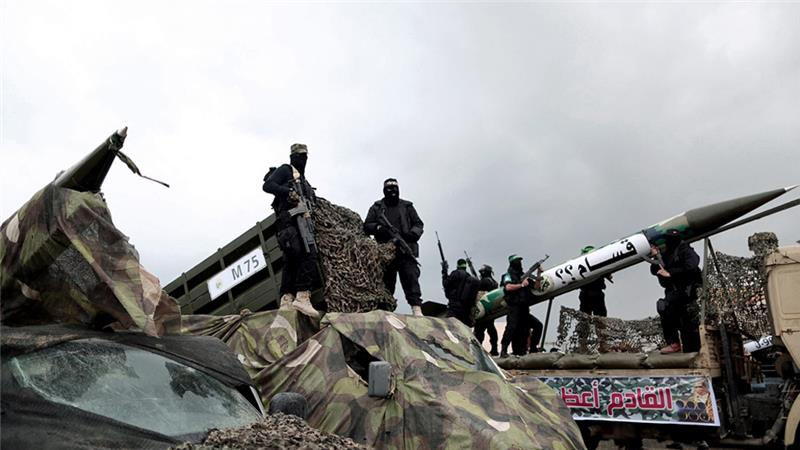 The Qassam Brigades confirmed that they had fired five experimental rockets into the sea [File: Getty Images]