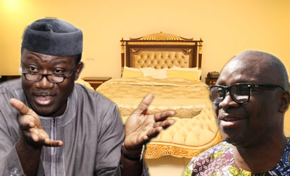 Dr. Kayode Fayemi, former governor of Ekiti State and Ayo Fayose