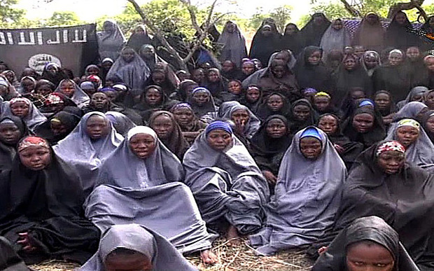 "A screengrab taken on May 12, 2014, from...A screengrab taken on May 12, 2014, from a video of Nigerian Islamist extremist group Boko Haram obtained by AFP shows girls, wearing the full-length hijab and praying in an undisclosed rural location. Boko Haram released a new video on claiming to show the missing Nigerian schoolgirls, alleging they had converted to Islam and would not be released until all militant prisoners were freed.  A total of 276 girls were abducted on April 14 from the northeastern town of Chibok, in Borno state, which has a sizeable Christian community. Some 223 are still missing. AFP PHOTO / BOKO HARAM  RESTRICTED TO EDITORIAL USE - MANDATORY CREDIT ""AFP PHOTO / BOKO HARAM"" - NO MARKETING NO ADVERTISING CAMPAIGNS - DISTRIBUTED AS A SERVICE TO CLIENTSHO/AFP/Getty Images"