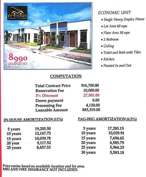 Deca Home Pricing