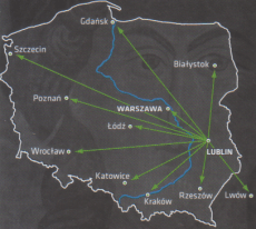 Lublin - road connections