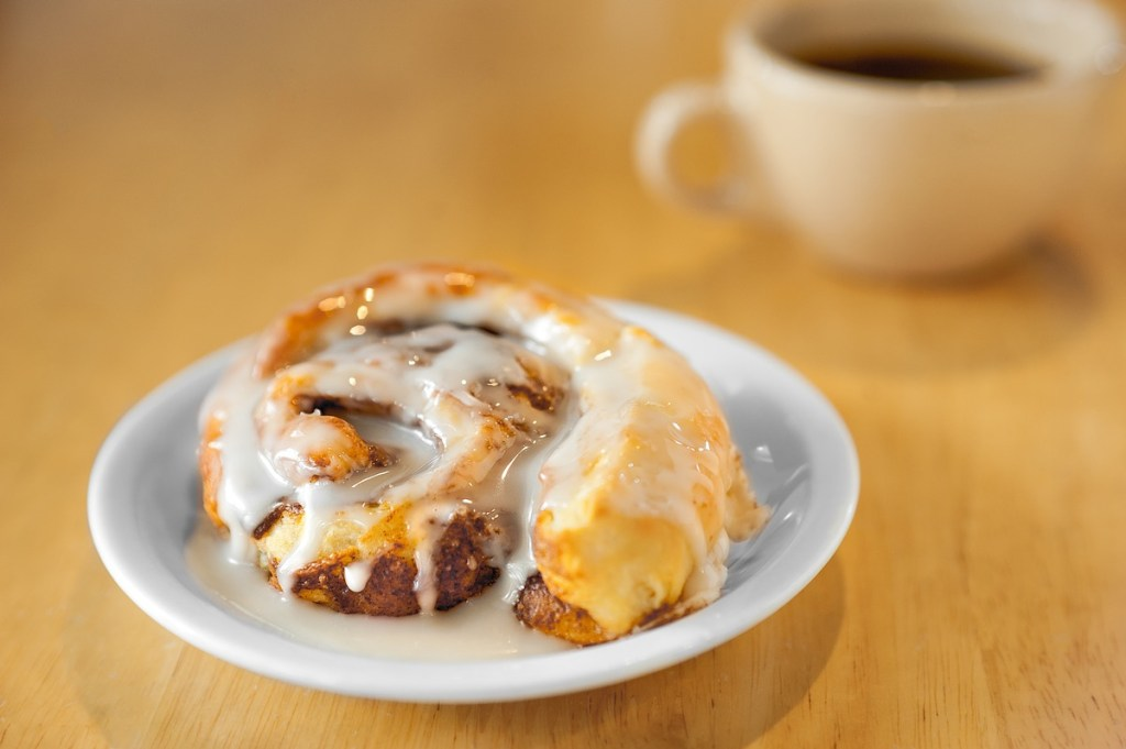 fresh baked cinnamon roll