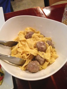 Alor Pappardelle with swedish meatballs