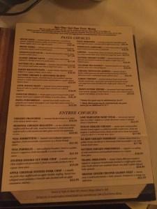 Portobello Cafe Buy One Get One Free Menu