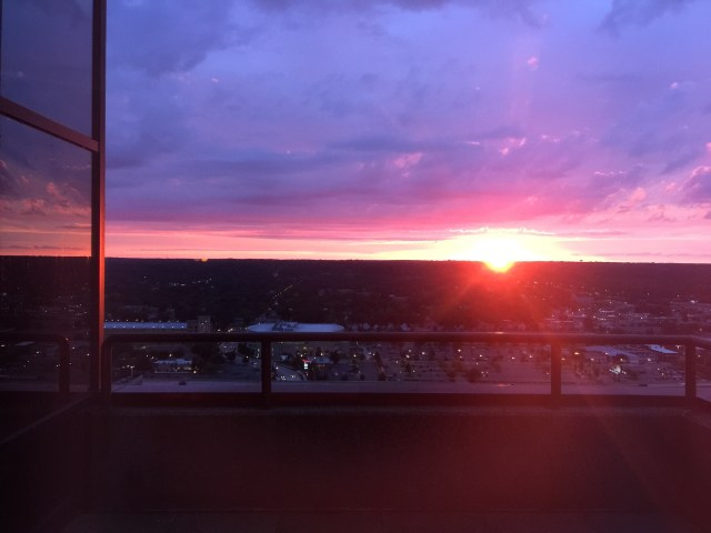 sunset from Cygnus 27 in Grand rapids