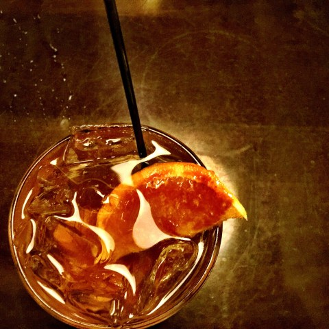 my old fashioned as a bruleed orange:  grove in grand rapids