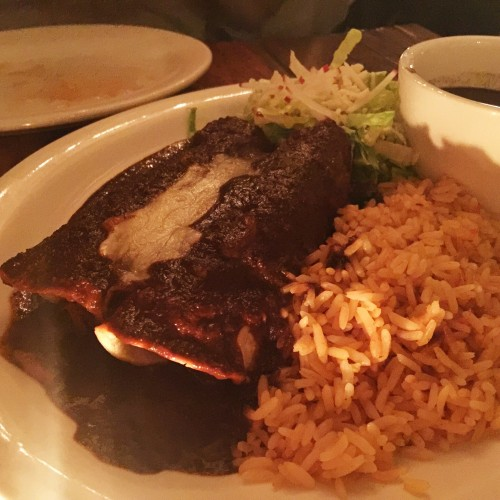 Maizal Beef Enchiladas de Mole Poblano