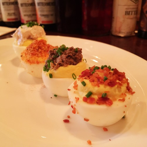 Deviled Eggs at Clover Club