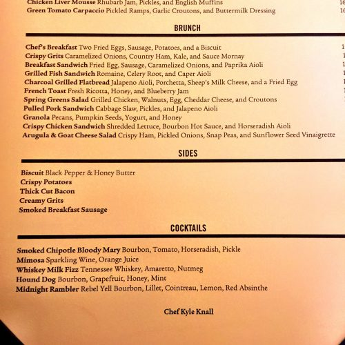 Maysville Brunch Menu Bottom