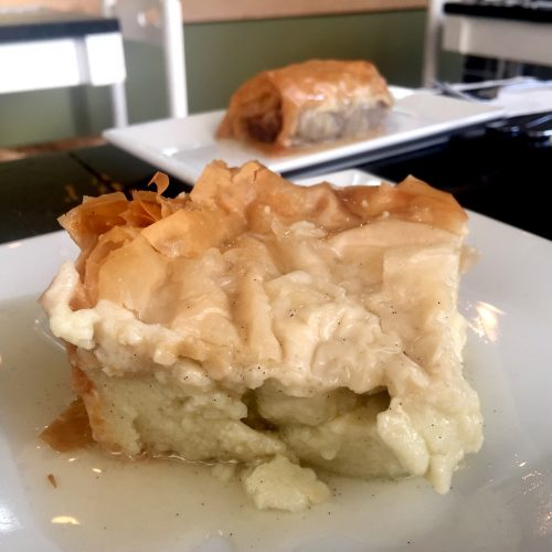 Avlee Desserts Galaktoboureko and Baklava