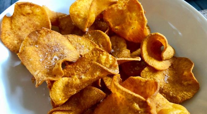 Knusprige Süßkartoffel Chips