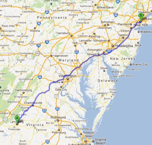 Lynchburg travel time
