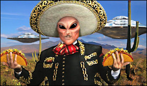 Illegal aliens? We don't have no stinkin' illegal aliens.