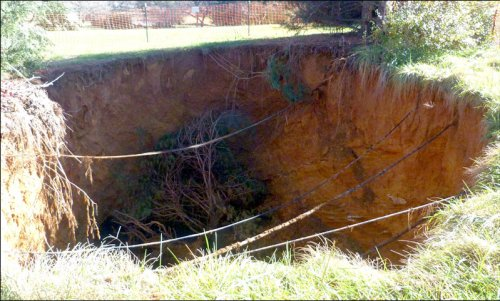 Augusta County sinkhole. Photo credit: Augusta County Alliance