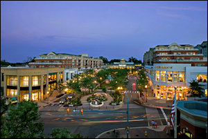 "The Clarendon area of Arlington is a good example of suburban ""WalkUP"" development."