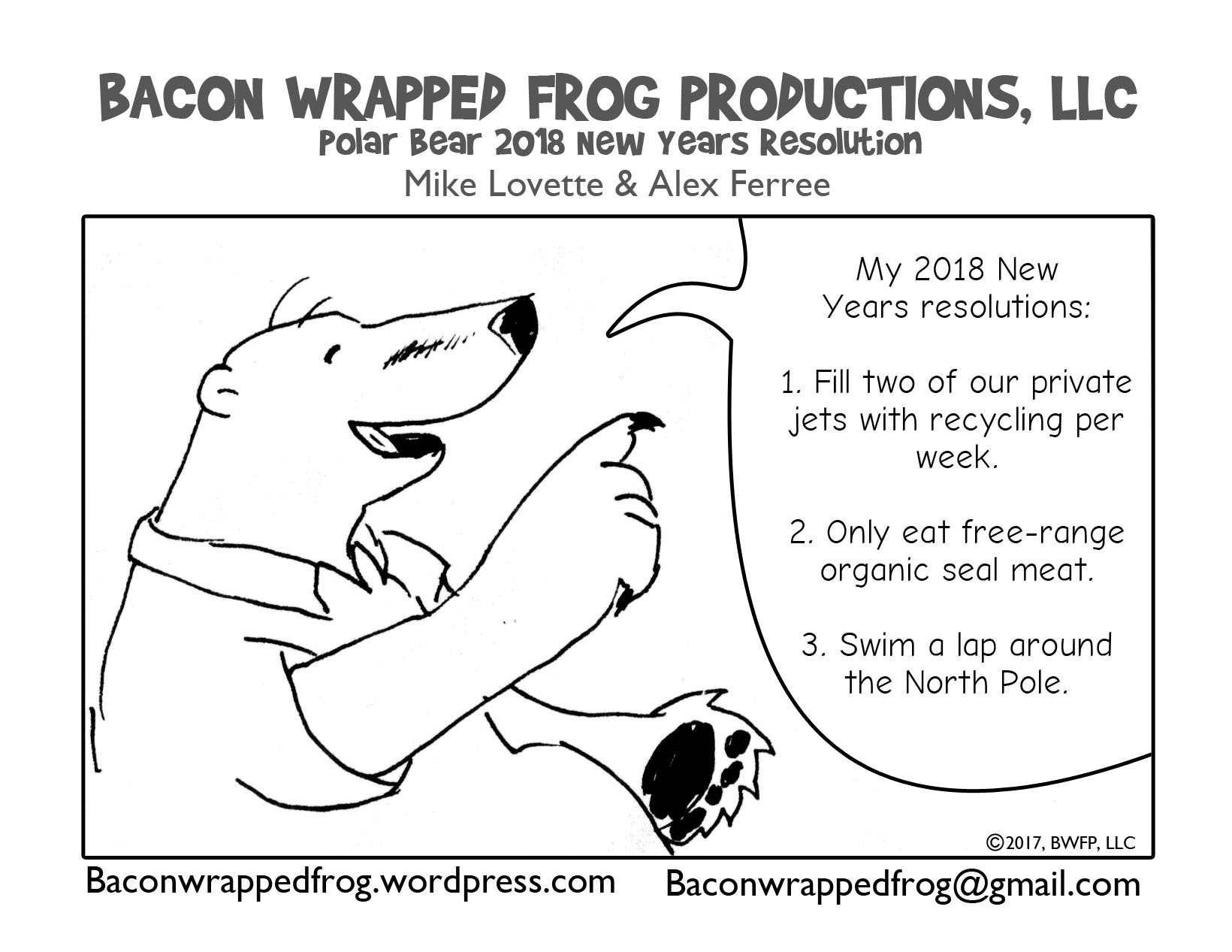 New Years Resolution Bacon Wrapped Frog
