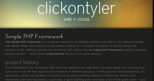 Simple PHP Framework is an easy-to-use PHP framework designed for small Web design companies and individual programmers.